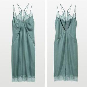 RARE Satin & Lace Slip Dress